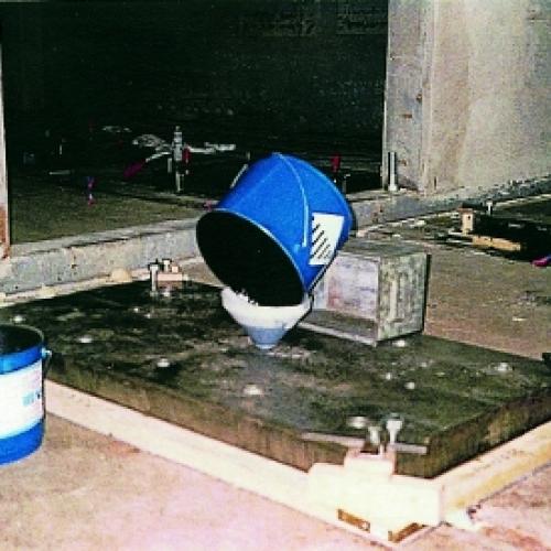 Металлополимер для установки машин, генерирующих большие динамические силы