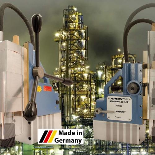 Магнитно-сверлильный станок (MAGPRO 52 AIR) пневматический, без электричества, одобрен ATEX, CEN