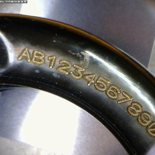 Лазерная маркировка стальной пружины
