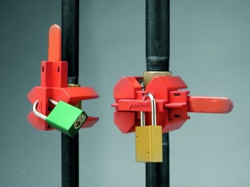 Блокираторы для клапанов, находящихся в открытом и закрытом положении