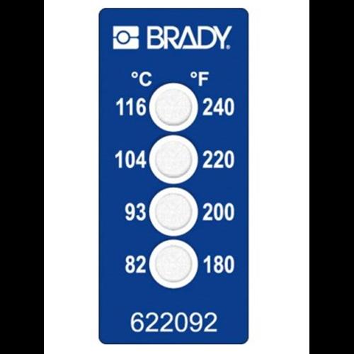 Этикетки температурные (одноразовые) BRADY